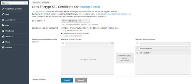 Getting Free SSL/TLS Certificate from Let's Encrypt