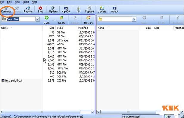 Uploading files using FTP Voyager